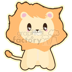cartoon lion clipart. Royalty-free image # 394607