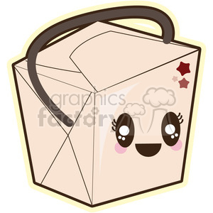 cute cartoon chinese food box snack noodle noodles