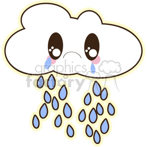 cute cartoon rain cloud crying cry sad weather spring