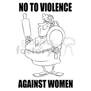 stop domestic violence black and white clipart. Commercial use image # 394687