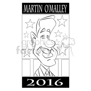 martin omalley black and white clipart. Commercial use image # 394707