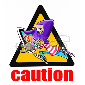 caution high hacking area clipart. Royalty-free image # 394747