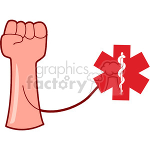 medical emergancy hospital paramedic equipment red cross first aid blood arm arms fist hand hands Clip Art Science Health-Medicine high pressure