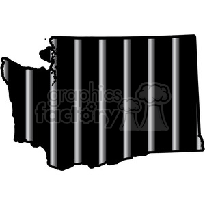 prison washington jail bars tattoo design clipart. Royalty-free image # 394803