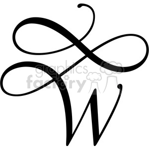 monogrammed w clipart. Commercial use image # 394823