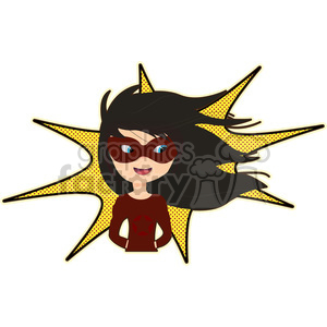 Superhero girl cartoon character vector image clipart. Commercial use image # 394910