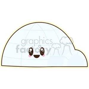 Igloo cartoon character vector image clipart. Royalty-free image # 394930
