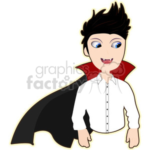 Vampire cartoon character vector image clipart. Royalty-free image # 394950