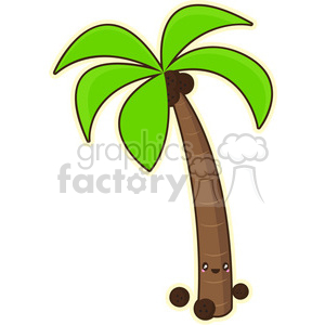 Palm tree cartoon character vector clip art image clipart. Royalty-free icon # 395242