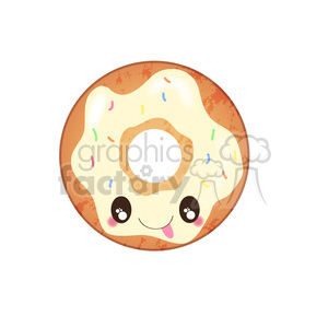 Cream doughnut cartoon character vector clip art image