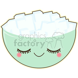 cartoon character cute illustration sugar bowl food