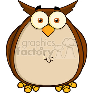 Royalty Free RF Clipart Illustration Owl Cartoon Mascot Character clipart. Commercial use image # 395324