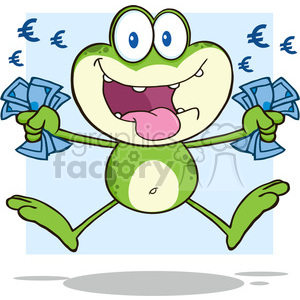 cartoon funny animal animals money cash greed greedy frog