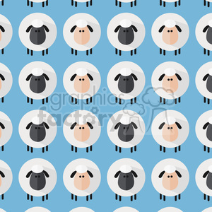 8234 Royalty Free RF Clipart Illustration Sheep Pattern Modern Flat Design Vector Illustration clipart. Commercial use image # 395704