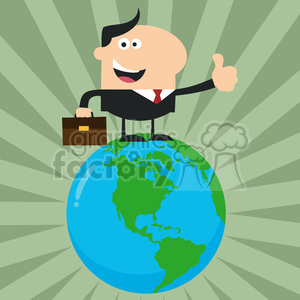 8366 Royalty Free RF Clipart Illustration The Best Manager On The World Flat Style Vector Illustration photo. Commercial use photo # 395984