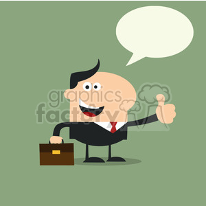 8259 Royalty Free RF Clipart Illustration Happy Manager Giving Feedback In Modern Flat Design Vector Illustration clipart. Royalty-free image # 396036