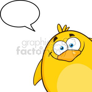 8590 Royalty Free RF Clipart Illustration Smiling Yellow Chick Cartoon Character Looking From A Corner With Speech Bubble Vector Illustration Isolated On White clipart. Royalty-free image # 396115