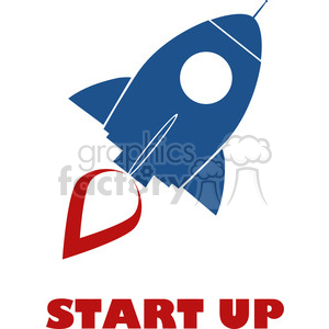 8312 Royalty Free RF Clipart Illustration Blue Retro Rocket Ship Concept Vector Illustration With Text clipart. Royalty-free image # 397021