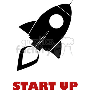 8311 Royalty Free RF Clipart Illustration Black Retro Rocket Ship Concept Vector Illustration With Text clipart. Royalty-free image # 397041