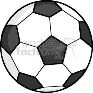 Royalty Free RF Clipart Illustration Soccer Ball clipart. Royalty-free image # 397051