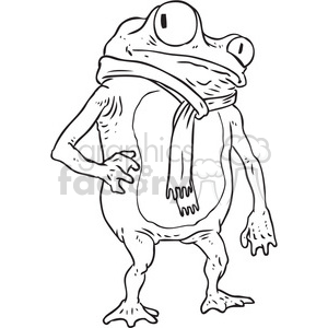 scarf on a frog clipart. Commercial use image # 397080