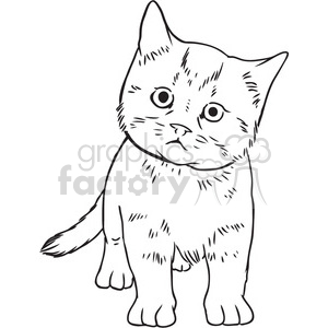 kitten vector RF clip art images clipart. Royalty-free image # 397100