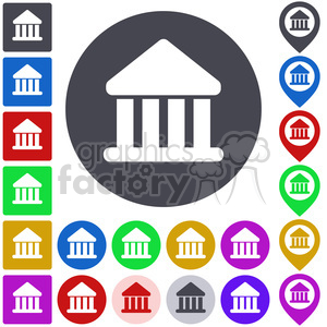 bank finance money business banking criminal market stock exchange pay usury rate building price treasure wealth value economic economy currency button icon set vector abstract app bank sign bank symbol colored concept design flat graphic internet label logo pictogram pin pointer symbol set icon+packs
