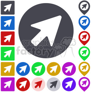 pointer cursor icon pack clipart. Commercial use image # 397300