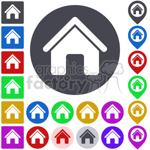 home icon pack clipart. Commercial use image # 397310