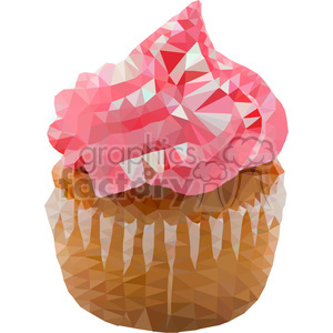 Cupcake geometry geometric polygon vector graphics RF clip art images clipart. Commercial use image # 397334