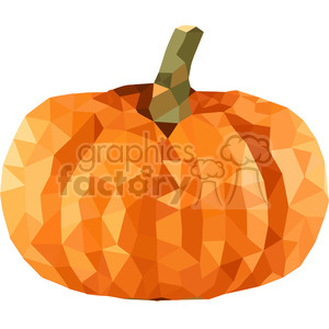 Pumpkin geometry geometric polygon vector graphics RF clip art images clipart. Commercial use image # 397344