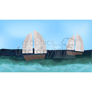 Yacht geometry geometric polygon vector graphics RF clip art images clipart. Commercial use image # 397354