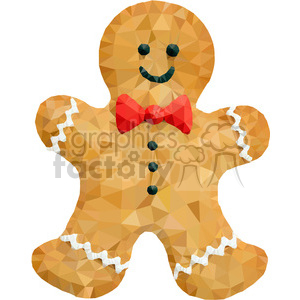 Gingerbread man geometry geometric polygon vector graphics RF clip art images clipart. Royalty-free image # 397364