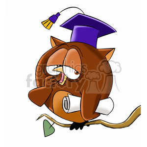 character mascot cartoon owl bird owls buho sleepy tired