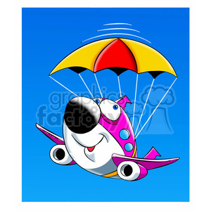 airplane crash landing parachute skyler clipart. Royalty-free image # 397854