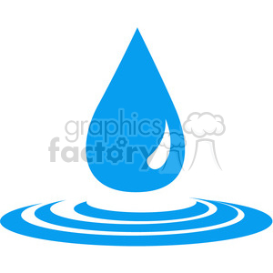water drop clipart. Royalty-free image # 397932
