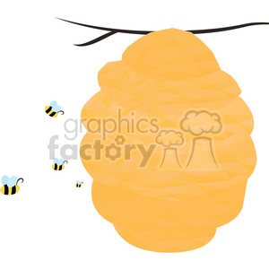 Beehive clipart. Commercial use image # 397952