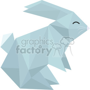 Bunny polygon animal art clipart. Royalty-free image # 397962