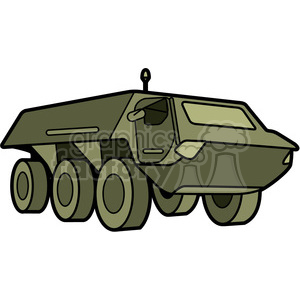 military armored security vehicle clipart. Commercial use image # 397982