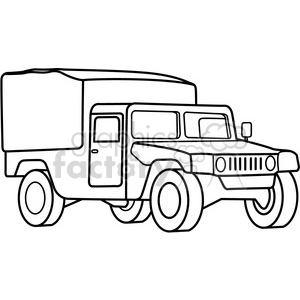 military armored medic vehicle outline clipart. Commercial use image # 398002