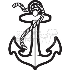 anchor with rope design tattoo illustration clipart. Royalty-free image # 398032