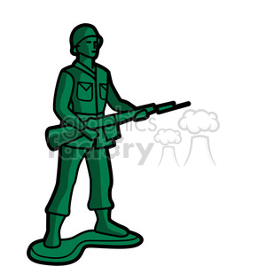 green toy infantry soldier illustration graphic clipart. Royalty-free image # 398042