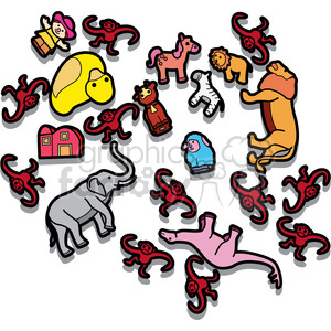 messy toy room illustration graphic clipart. Royalty-free image # 398052