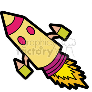 cartoon rocket illustration graphic clipart. Royalty-free image # 398072