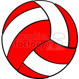 sports equipment red white volleyball clipart. Commercial use image # 398122