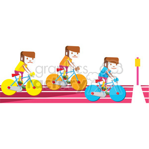 olympic cycling illustration clipart. Royalty-free image # 398142