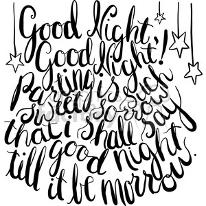 typography calligraphy words design type quotes good+night goodnight