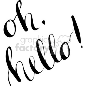 oh hello calligraphy clipart. Commercial use image # 398182