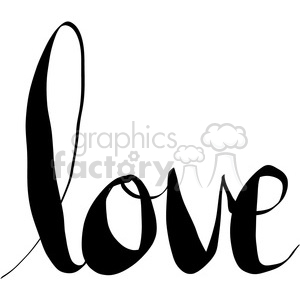 love words calligraphy lettering clipart. Royalty-free image # 398192