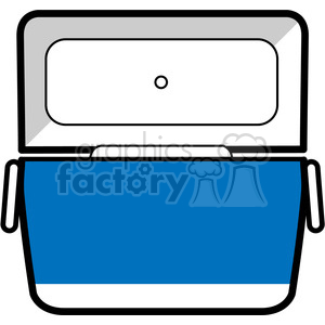 blue opened cooler icon clipart. Royalty-free image # 398212